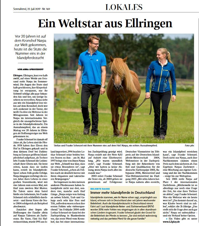 Næpa in der Landeszeitung!