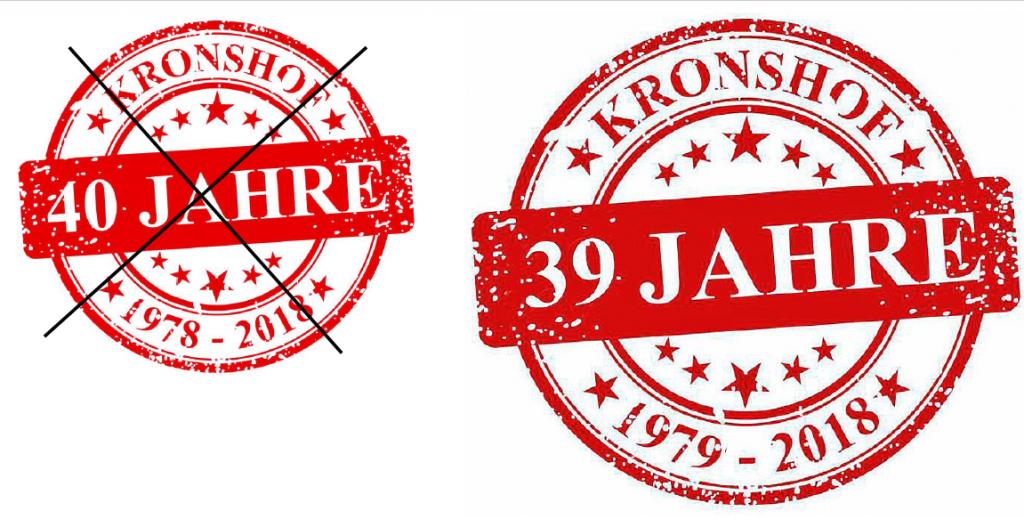 Kronshof-Jubiläum leider erst im nächsten Jahr!