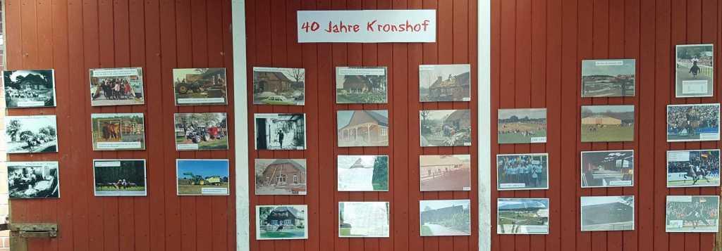 40 Jahre Kronshof: Bilderwand