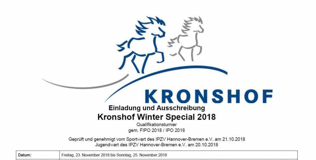 Ausschreibung Winter-Special