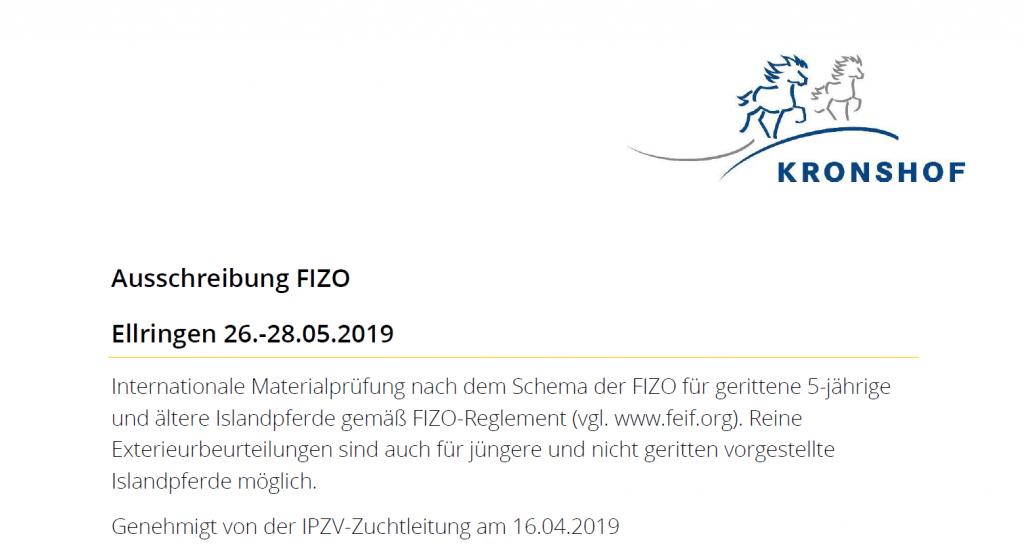 FIZO Ausschreibung online