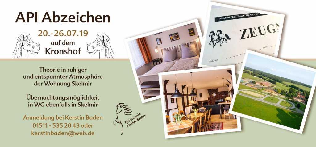 Noch Plätze frei: IPZV-Reitabzeichen mit Kerstin Baden vom 20.07. bis 26.07.