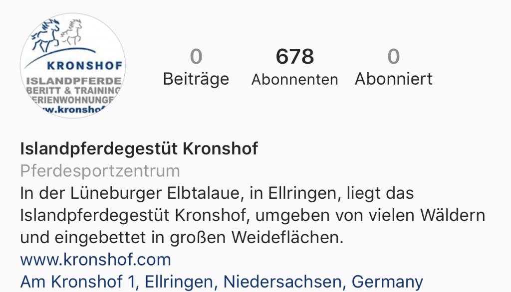 Kronshof goes Insta!
