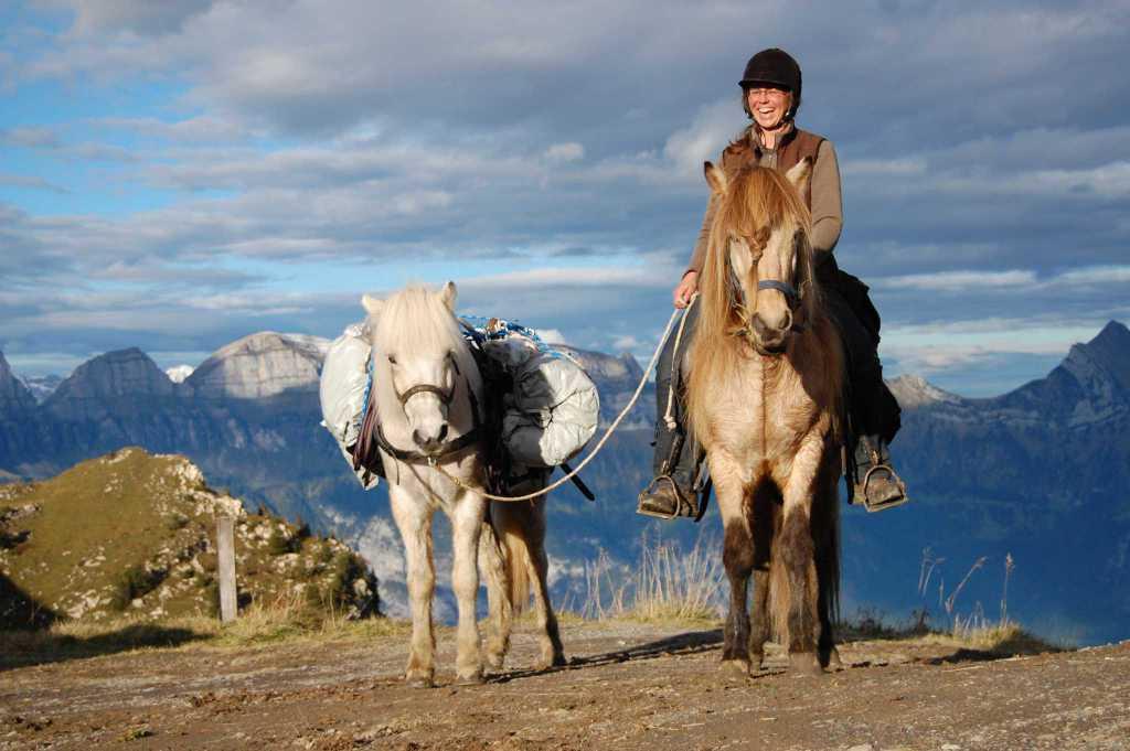 Mit Kronshof-Pferden durch die Alpen