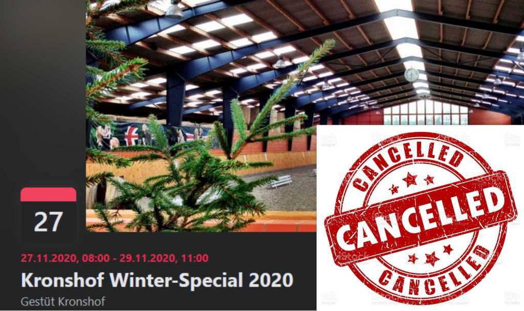 Absage Winter Special 2020